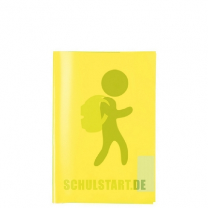 Transparenter Heftumschlag, A5 gelb, Herma