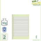 Premiumheft Recycling A5, green90, Lineatur 2