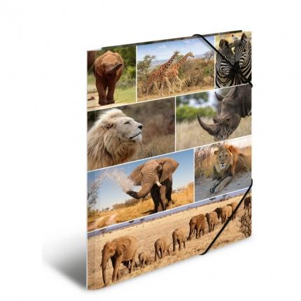 Kartonmappe A3, Afrikanische Tiere