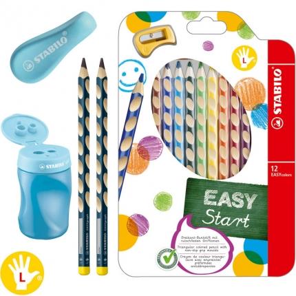 XL-Schreibset 1. Klasse für Linkshänder, blau: Dicke Bleistifte, Buntstifte etc.