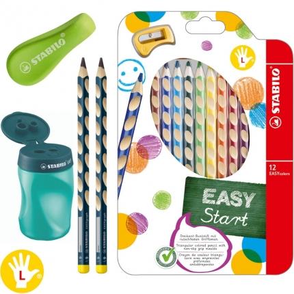 XL-Schreibset 1. Klasse für Linkshänder, grün: Dicke Bleistifte, Buntstifte etc.