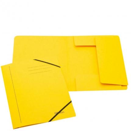 Jurismappe aus Karton, A4, gelb