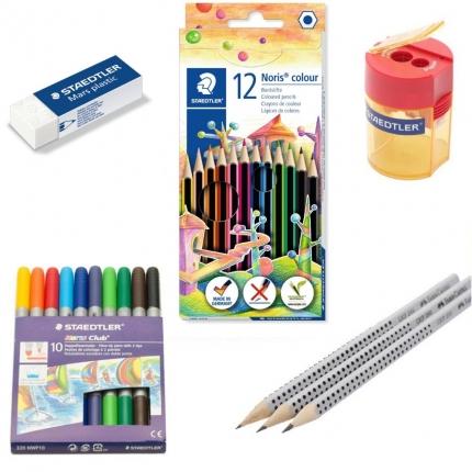 Schreibset Grundschule: Alle Stifte, Spitzer und Radierer