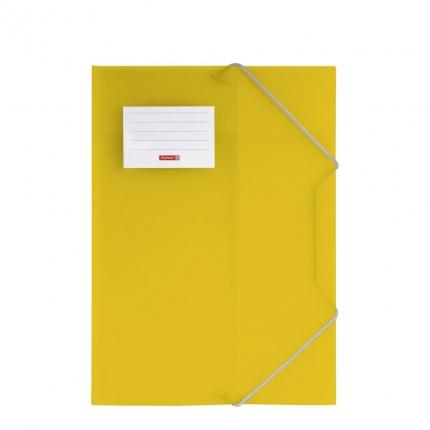 Gummizugmappe A4 gelb, Fact!pp Brunnen