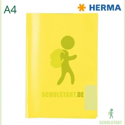 Transparenter Heftumschlag, A4 gelb, Herma
