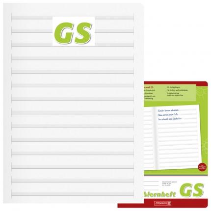 Schreiblernheft Grundschrift GS, Brunnen, A4 Hochformat