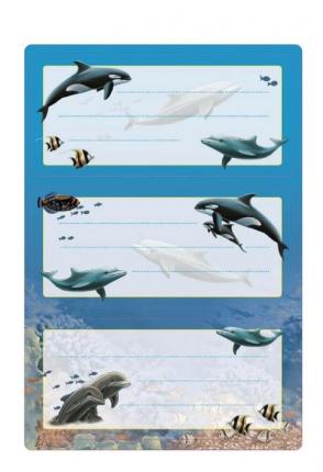 Schuletiketten Delfine, Herma