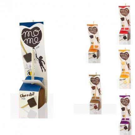 Trinkschokolade am Stiel, Choc-o-Lait, verschiedene Sorten