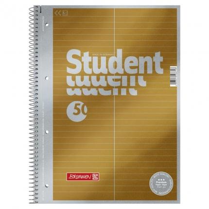 Collegeblock Student A4, Lineatur 53 Vokabelblock, Brunnen