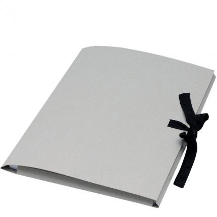 Folia Sammelmappe A3, Karton, Stoffband, grau