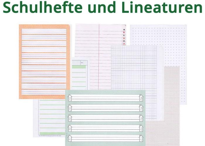 Schulhefte und die Lineatur: Einfach und ausführlich erklärt