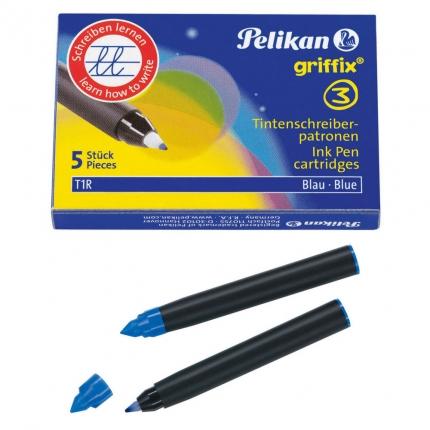 griffix Patronen für Tintenschreiber, Pelikan T1R, 5 Stück