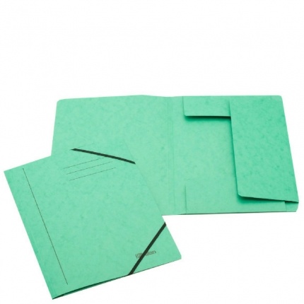 Jurismappe aus Karton, A4, grün