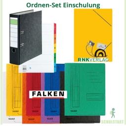 Ordnen-Set Einschulung: 8 Marken-Schnellhefter, tolle Postmappe und mehr