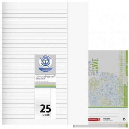 Schulhefte Blauer Engel: Lineatur 25, A4