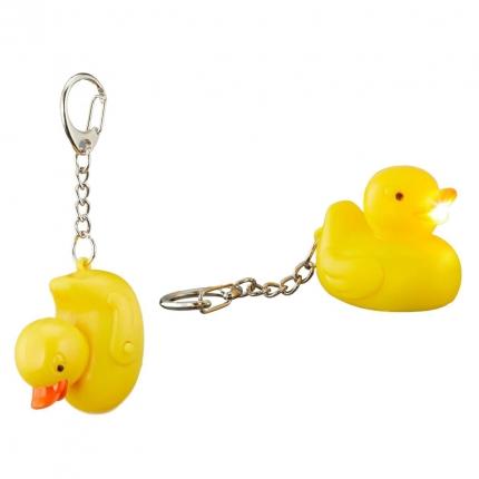 Schlüsselanhänger Ente mit Licht und Sound