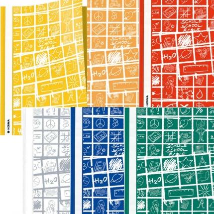 Schoolydoo Schnellhefter 6 Farben: weiß und gelb, orange, rot, blau, grün - Herma