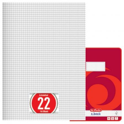 Heft Lineatur 22, kariert, A4,Herlitz