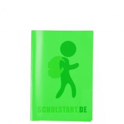 Transparenter Heftumschlag, A5 dunkelgrün, Herma