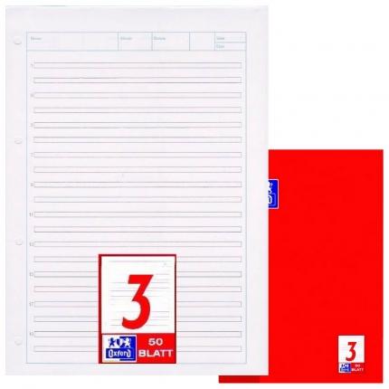 Arbeitsblock Lineatur 3, Oxford, liniert, A4