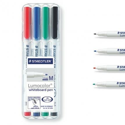 Whiteboard Stift, Staedtler Lumocolor 4er Box