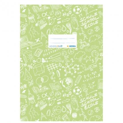 Hefteinband A4, hellgrün gemustert, Herma Schoolydoo