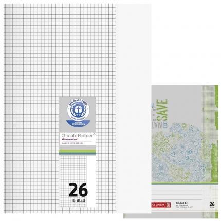 Schulhefte Blauer Engel: Lineatur 26, A4